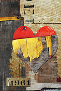 Friends Mixed Media - Rustic Fantastic Love in the Sixties by Anahi DeCanio