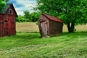 Abandoned Buildings Prints - Rustic Farm - Barn -Chicken Coup Print by Paul Ward