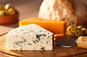 Blue Cheese Posters - Rustic Fayre Poster by Christopher and Amanda Elwell