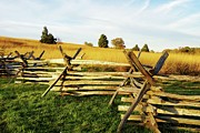 Split Rail Fence Prints - Rustic Fence in the Early Evening Print by Jean Goodwin Brooks