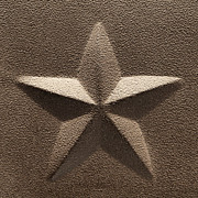 Primitive Metal Prints - Rustic Five Point Star Metal Print by Olivier Le Queinec