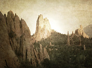 Autumn Landscape Fine Art Print Prints - Rustic Garden of the Gods Print by Andrea Hazel Ihlefeld