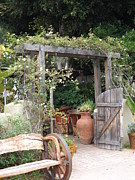 Old Town San Diego Photos - Rustic Gate by Kimberly-Ann Talbert