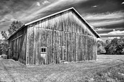 Pa Barns Framed Prints - Rustic in B/W Framed Print by Guy Whiteley