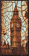 London England  Mixed Media - Rustic Lite Big Ben by Debra     Vatalaro