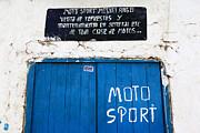 James Brunker - Rustic Motorbike Repair Shop Detail