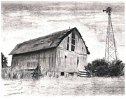 Barn Drawing Drawings - Rustic Neglect by Jimmy Wood