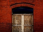 Red Bricks Prints - Rustic Old Warehouse Print by Marsha Heiken