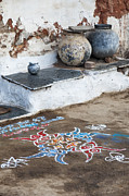 Indian Art Prints - Rustic Rangoli  Print by Tim Gainey