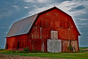 Adam Smith Framed Prints - Rustic Red Barn Framed Print by Adam Smith