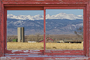 Picture Window Frame Photos Art - Rustic Red Barn Picture Window Colorado Country View by James BO  Insogna