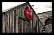 Coca-cola Framed Prints - Rustic Framed Print by Scott Pellegrin