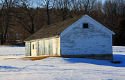 Winter Photos Prints - Rustic Shack Print by Michael Mooney