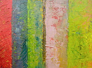 Michelle Calkins - Rustic Stripes with Pea Green