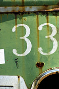 Broadway Digital Art Metal Prints - Rustic Urban Sign - Numerology 33 Metal Print by Anahi DeCanio