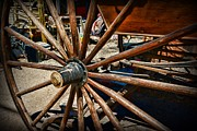 Antique Wagon Posters - Rustic Wagon Wheel Poster by Paul Ward