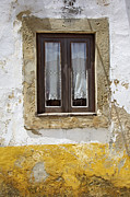 Pitted Photo Prints - Rustic Window of Medieval Obidos Print by David Letts