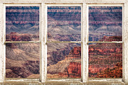 Picture Window Frame Photos Art - Rustic Window View Into The Grand Canyon by James Bo Insogna
