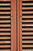 Peeling Paint Mixed Media - Rustic Wood Window Shutters of Tuscany by David Letts