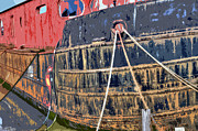 Port Holes Prints - Rusting Hull Print by Jan Carr