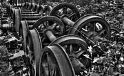 Wheels Art - Rusting wheels of steel  by Rob Hawkins
