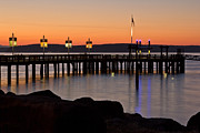 Ruston Prints - Ruston Way Tacoma Sunset Print by Bob Noble Photography