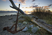 Point State Park Prints - Rusty Anchor at Sunrise Print by Eric Gendron