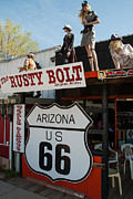 Highway Signs Framed Prints - Rusty Bolt Saloon Route 66 Seligman Arizona Framed Print by Robert Ford