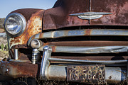 License Plates Prints - Rusty But Trusty Chevy Print by Amber Kresge