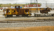 Old Caboose Photos - Rusty Caboose Kansas Siding by Deborah Smolinske