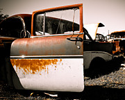 Antique Automobiles Photo Posters - Rusty Car Doors Poster by Sonja Quintero