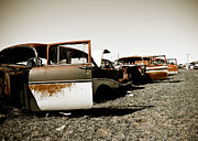 Dallas Digital Art Metal Prints - Rusty Car Heaven Metal Print by Sonja Quintero