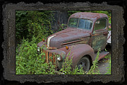 Abandoned Cars Prints - Rusty Classic Ford Pickup Truck Print by John Stephens