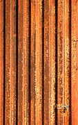 Metal Sheet Prints - Rusty Corrugated Iron Print by Yali Shi
