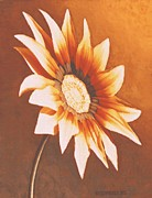 Rust Paintings - Rusty Gazania by SophiaArt Gallery