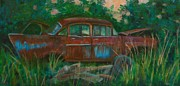 57 Chevy Painting Framed Prints - Rusty Framed Print by Jana Baker