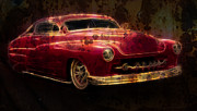 Graffitti Coupe Prints - Rusty Merc Print by Steve McKinzie