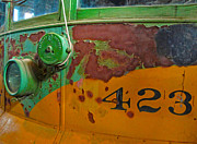 Old Caboose Photos - Rusty Old Bus by Gregory Dyer