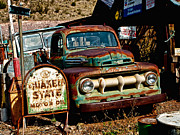 Quaker Posters - Rusty Old Ford Poster by Elaine Snyder