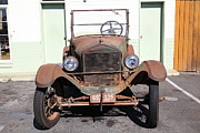 Ford Model T Car Posters - Rusty Old Ford Jalopy 5D24642 Poster by Wingsdomain Art and Photography