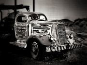 White Truck Framed Prints - Rusty Past Framed Print by Perry Webster