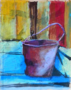 Featured Pastels Posters - Rusty Pot Poster by Toshiko Tanimoto