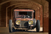 Ford Model T Car Posters - Rusty Rat Rod A Poster by Dave Koontz