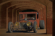 Ford Model T Car Posters - Rusty Rat Rod B Poster by Dave Koontz