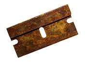 Oxidize Prints - Rusty razor Print by Tony Cordoza