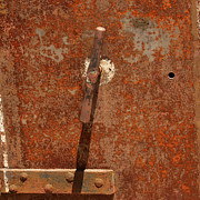Valuable Metal Prints - Rusty Safe Front Metal Print by Art Block Collections