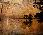 Cypress Digital Art Prints - Rusty Sunrise Print by J Larry Walker