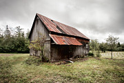 Old Barn Photo Posters - Rusty Tin Roof Barn Poster by Gary Heller