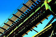 Bronx Prints - Rusty Train Bridge Bronx Ne Print by Sabine Jacobs