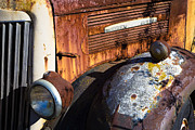 Headlight Photo Metal Prints - Rusty Truck Detail Metal Print by Garry Gay